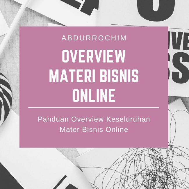 overview materi bisnis online