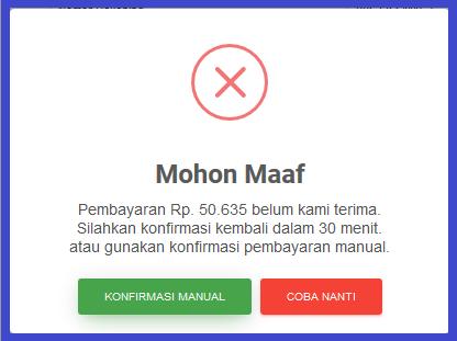 konfirmasi manual pembayaran topup