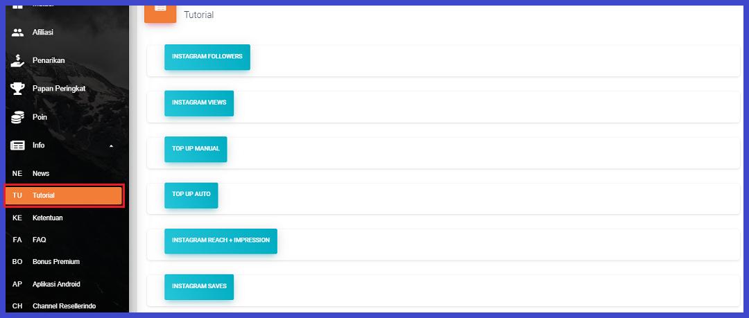 tutorial fitur aplikasi penambah followers / panel smm