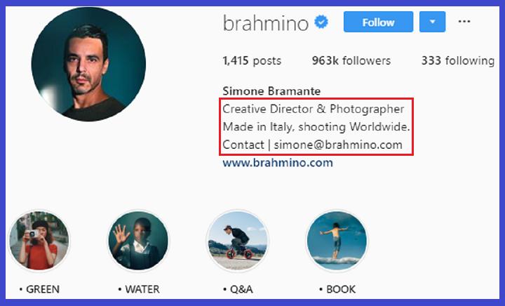optimasi akun bisnis Instagram influencer bio profile