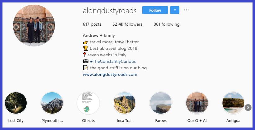 akun selebgram dan influencer Instagram niche travel