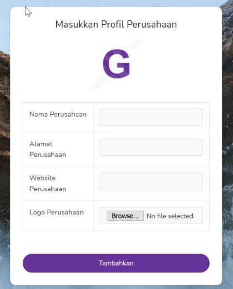 Halaman Edit Profile