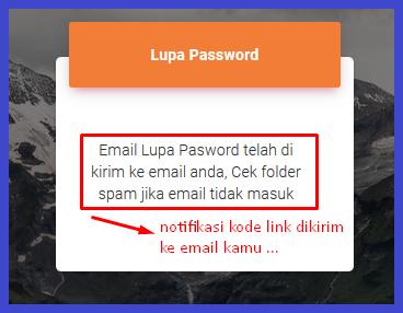 notifikasi reset password Resellerindo
