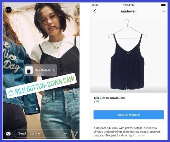Fitur Instagram Story Shopping